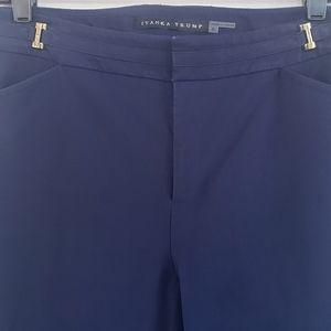 IVANKA TRUMP Navy Blue Ankle Pants Size 8